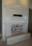A Fireplace is totally transformed with a Two Colour Marble Paint Finish