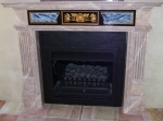 Gold Leaf Marble Fireplace Perth