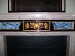 Painted Marble Fireplace