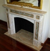 Painted paster Fireplace