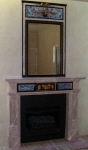 Painted Marble Fireplace Painted Mirror