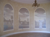Trompe l'oeil Perth, French Countryside Mural, Painting Connolly, Painting Dalkeith, Painted Mural Perth, Luxury Walls