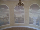 French Countryside Mural, Trompe l'oeil, Painter Peppermint Grove, Interior Painting Dalkeith WA, French Wash Walls