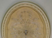 Ornate Ceiling Fixture, Painted Ceiling Dalkeith, Painted Ceiling Mount Lawley, Painting Ceiling Rose, Gold Highlighting