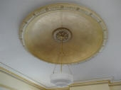 Beautiful Painted Ceiling Dome, French Wash Gold Highlighting, Master Painter Dalkeith, Heritage Painter Mt Lawley WA
