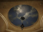 Vaulted Ceiling, Hand Painted Night Sky, Night Sky Mural Perth, Painted Clouds Stars Moon, French Wash Paint