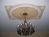 Painted Ceiling Fixture, Painted Ceiling Rose, Gold Leaf, Gilding, Flouncing, Flounced Paint Finish, Creative Colours Perth