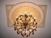 Painted Ceiling Fixture, Painted Ceiling Rose, Gold Leaf, Gilding, Flouncing, Painter Peppermint Grove WA 6011