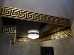Aged Gold, Black & Gold, Gloss Ceiling, Gold Leaf Perth, Egyptian Gold, Plaster Ceiling, Architecture Perth, Painter Perth