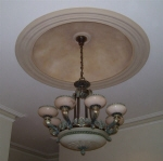 Painted Ceiling Fixture, Painted Dome Perth, Decorative Effects Ceiling Dome, Interior Painter Creative Colours