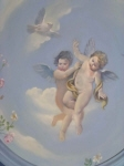 Hand Painted Ceiling Dome Perth, Gold Leaf Dome, Angel Dome, Cherub Dome, Gilded Dome, Cherubs