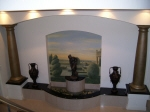 Metallic Painted Columns, Italian Countryside Painted Mural, Perth Painter Karl Saxon Creative Colours