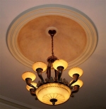 Painted Ceiling Fixture, Painted Copper Dome Perth, Decorative Effects Ceiling Dome, Painter Creative Colours