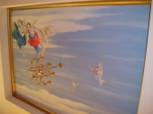 Vaulted Ceiling, Ceiling Mural Perth, Angels Mural, Cherub Mural, Painted Sky, Gold Cornice, Painter Dalkeith WA 6009