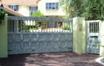 Aged Painted Security Gate & Wooden Gate, Best House Painter Dalkeith WA 6009 Creative Colours