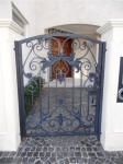Wrought Iron Gate Perth, Painted Ironwork, Blue Black Ironwork, Decorative Painting, Creative Colours