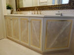 Luxurious Marble & Gold Painted Bathroom Cupboards