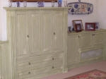 Aged Lounge Cabinetry