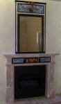 Mirror & Fireplace in Marbles & Gold Leaf