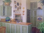 Two Tone Green Kitchen Cabinetry