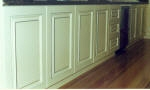 Pinstripes to Kitchen Cupboards & Satin Finish