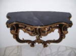 Restoration to Antique Italian Hall Table - Gold Leaf, Ageing, Marbling