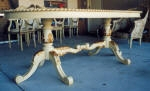 Dining Table Painted Gold & Gold Leaf, 