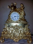 Gold Leaf Gilding to French Antique Clock