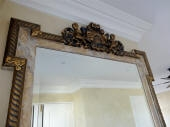 MDF Mirror - Painted Inlays in Faux Marble Finish, Edges in Three Colour Decorative Paint Finish