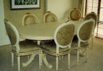 Painted French Furniture - Dining Table & Chairs