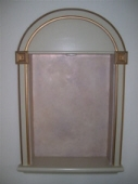Arched Display Recess - French Wash with gold & copper