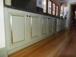 Dragged cupboards with Aged Gold Leaf