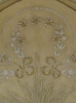 Ornate Ceiling Rose, Plaster Ceiling Rose, Painted Ceiling Rose, Gold Leaf, Decorative Painting, French Wash, Gold Flowers