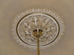 Painted Ceiling Rose, Painted Gold Highlights, Gold Leaf, Gilding, Residential Painter Subiaco, Interior Exterior Painting