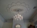 Silver Wallpaper, Moulded Ceiling Panel, Silver Painting, Metallic Painting, Silver Ceiling Rose, Plaster Ceiling Rose Perth