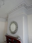 Textured Wallpaper, Ornate Cornice, Plaster Cornice Perth, Heritage House Painting, Federation House Painting Perth