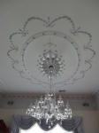 Metallic Silver paint, Plaster Ceiling Rose, Plaster Ceiling Panel, Plaster Mouldings Perth, Creative Colours Painting Perth
