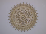 Painted Ceiling Rose, Plaster Ceiling Rose, Plaster Mouldings Perth, Gold Highlighting, Creative Colours Painting Perth