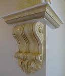 Plaster Corbels Perth, Painted Corbels, Gold Highlights, Colour Wash, Residential Painter Peppermint Grove WA 6011