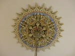 Plaster Ceiling Rose, Painted Ceiling Rose, Gold Paint, Painted Fruit, Master Painter Karl Saxon, Creative Colours Subiaco