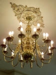 Gold Chandelier, Gold Candelabra, Gold Ceiling Rose, Historical House Painting, Period Home Painting Creative Colours Perth