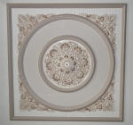 Plaster Ceiling Feature, Ornate Ceiling Rose, Painted Ceiling Rose, Liquid Gold, Neutral Painting, Premium Painting Crawley
