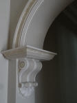 Painted Plaster Corbels, Plaster Arch, Wooden Arch, Archway Moulding, Heritage House Painting Perth, Creative Colours