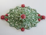 Red Roses, Ceiling Rose, Historical Home Renovation, Plaster Rose, Painting to Period Homes, House Painter Applecross WA