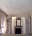 Ceiling Rose, Ceiling Dome, Venetian Plaster, French Washed Walls, Marbled Fireplace, Marbled Mirror, Faux Marble