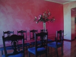 Painted Wall Finish, Pink Walls, Painted Effects, House Painter Scarborough WA 6019, Painted Dining Room, Painted Lounge
