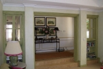 Green Painted Walls, Aged Woodwork, Rustic Painting, Colour Wash, Interior Design Dalkeith, House Painter Cottesloe WA