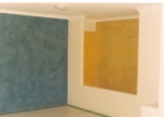 Tuscan Texture Paint, Brushed Paint Finish, Blue Wall, Yellow Wall, Ochre Coloured Wall, House Painter East Perth WA 6004