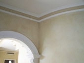 French Wash Paint Effects, Painted Cornice, Plaster Arch, Historical Restoration, Heritage Painting, Tuscan Walls, Karl Saxon