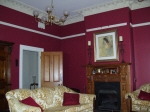 Claret Paint, Red Walls, Period Home Painting Perth, Federation House Painting, Heritage Home Painting, Plaster Cornice